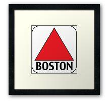 Boston Citgo Framed Print