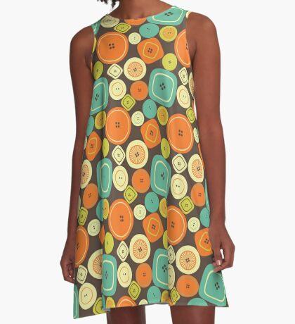 Buttons A-Line Dress