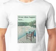 Great ideas happen here.... Unisex T-Shirt