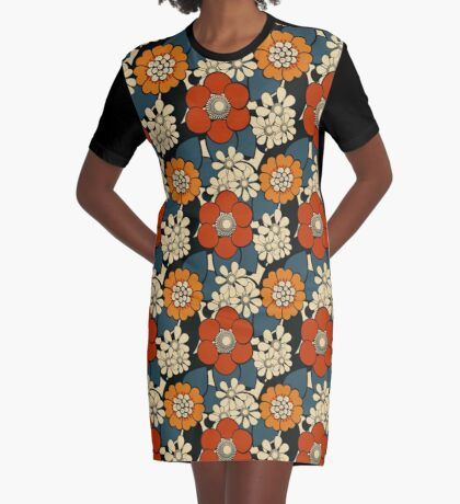 Flowers Graphic T-Shirt Dress