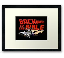 Back to the Bible: Bible Study Framed Print