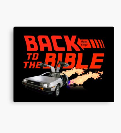 Back to the Bible: Bible Study Canvas Print