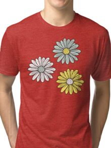 Yellow and Blue Daisies  Tri-blend T-Shirt