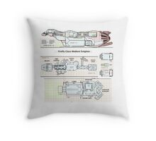 Serenity Firefly floorplan schematics Throw Pillow