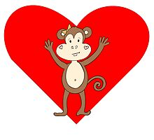 Happy Monkey Girl Heart by kwg2200