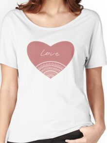 doodle lace heart  Women's Relaxed Fit T-Shirt