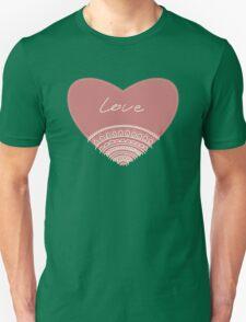 doodle lace heart  Unisex T-Shirt