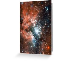 Red Galaxy 2.0 Greeting Card