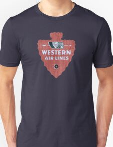 Western Airlines arrowhead Unisex T-Shirt