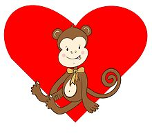 Baby Girl Monkey Heart by kwg2200