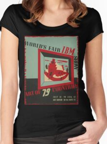 WPA United States Government Work Project Administration Poster 0743 World's Fair IBM show Women's Fitted Scoop T-Shirt