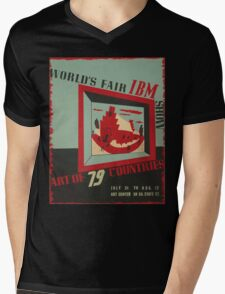 WPA United States Government Work Project Administration Poster 0743 World's Fair IBM show Mens V-Neck T-Shirt