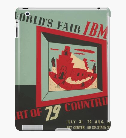 WPA United States Government Work Project Administration Poster 0743 World's Fair IBM show iPad Case/Skin