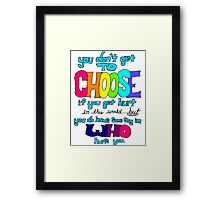 Fault in Our Stars Life Quote Framed Print