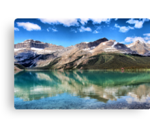 Bow Lake Reflection Canvas Print