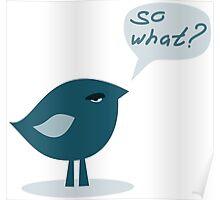 so what. haughtiness bird Poster