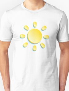paper sun on turquoise background Unisex T-Shirt