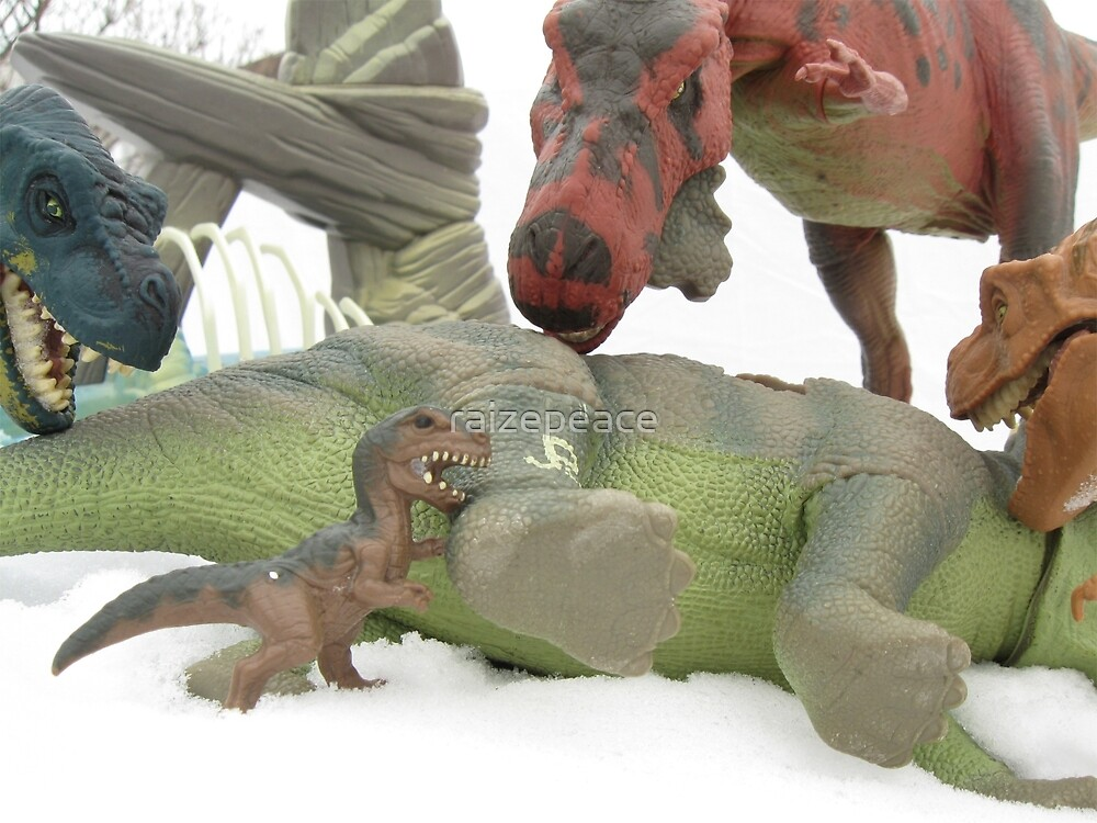 T rex family dinner by raizepeace redbubble for T rex family