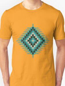 Turquoise Native Beadwork Sunburst Unisex T-Shirt