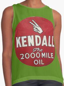 Vintage Kendall Motor Oil Sign Contrast Tank