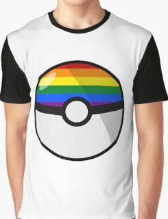 LGBT Pokeball Graphic T-Shirt