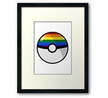 LGBT Pokeball Framed Print