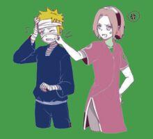 Naruto with Sakura 00005 Kids Tee