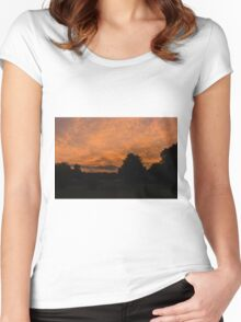 Morning dawn in the country Women's Fitted Scoop T-Shirt