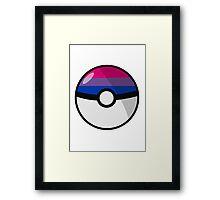 Bi Pokeball Framed Print