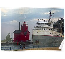 The Manistee and Big Red Lighthouse Poster
