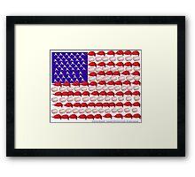 American Baseball by Darryl Kravitz Framed Print