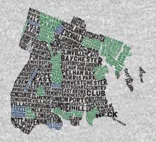 Bronx, New York City Typography Map Kids Tee