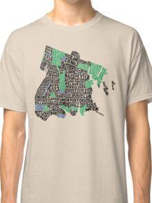 Bronx, New York City Typography Map Classic T-Shirt