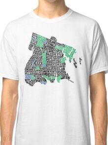 Bronx, New York City Typography Map Classic T-Shirt
