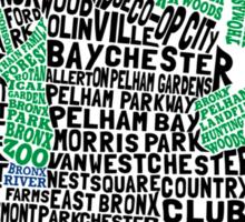 Bronx, New York City Typography Map Sticker