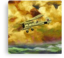WWII Swordfish biplane of the Royal Navy - pillow & tote design Canvas Print