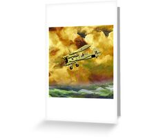 WWII Swordfish biplane of the Royal Navy - pillow & tote design Greeting Card