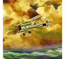 WWII Swordfish biplane of the Royal Navy - pillow & tote design Photographic Print