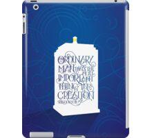 Ordinary Man - Gallifrey  iPad Case/Skin