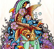 Koi fish  by Thoricartist