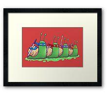 Teenage Mutant Ninja Slugs Framed Print