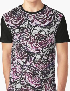 Abstract Pink Nature Pattern Graphic T-Shirt