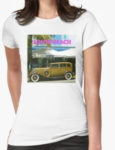 SOUTH BEACH TRANSPORTATION Womens Fitted T-Shirt