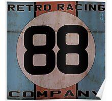"Retro Racing Company ""88"" Poster"
