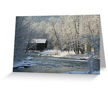 Covered Bridge Chelsea Vermont, USA Greeting Card