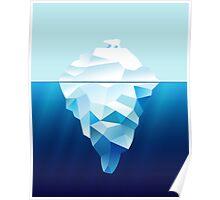 Ice Burg And Polar Bear Poster