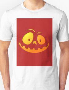 Cheeky Pumpkin Face on Blood Red Unisex T-Shirt