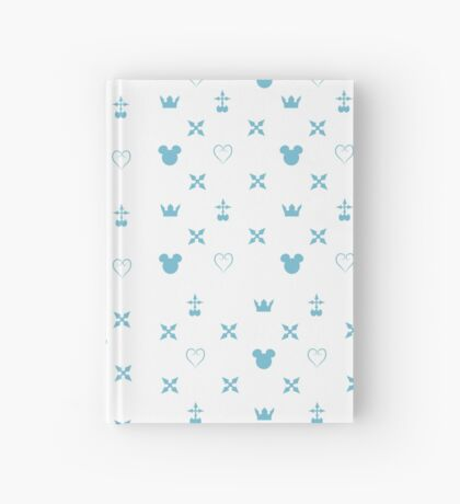 Kingdom Hearts Pattern (white/blue) Hardcover Journal