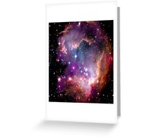 Colorful Galaxy Pattern Greeting Card