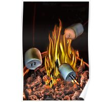 。◕‿◕。 TOASTING MARSHMALLOWS PICTURE/CARD。◕‿◕。  Poster